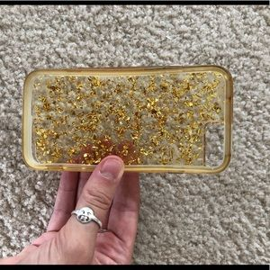 Gold flake iPhone 6 case